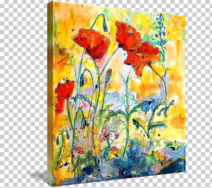 Watercolor Painting Poppy Modern Art Png Clipart Abstract Art