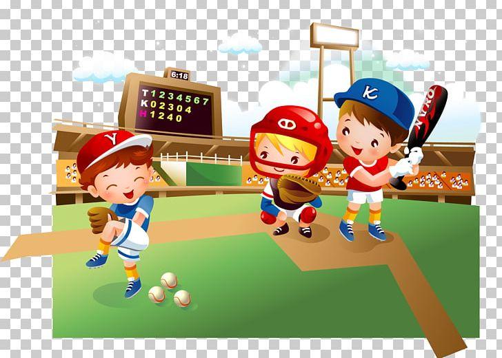 Baseball Field Cartoon Child Png Clipart Baseball Player Baseball Vector Batter Batting Games Free Png Download