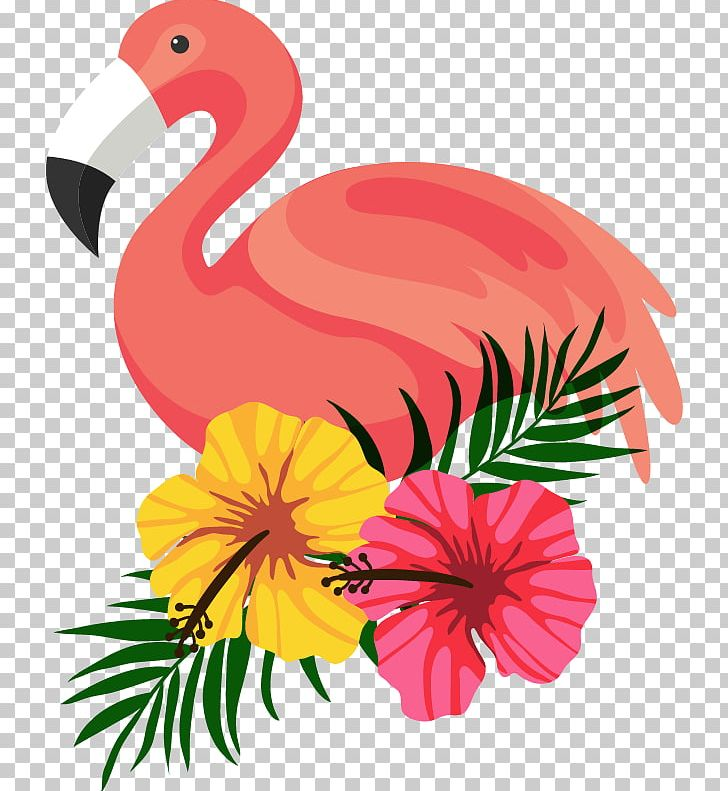 Beautifully Decorated Beautiful Flamingo Flower Frame PNG, Clipart, Art, Beak, Beautiful, Bird, Chicken Free PNG Download