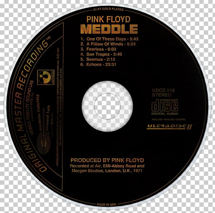 Compact Disc Meddle Music Pink Floyd Television PNG, Clipart
