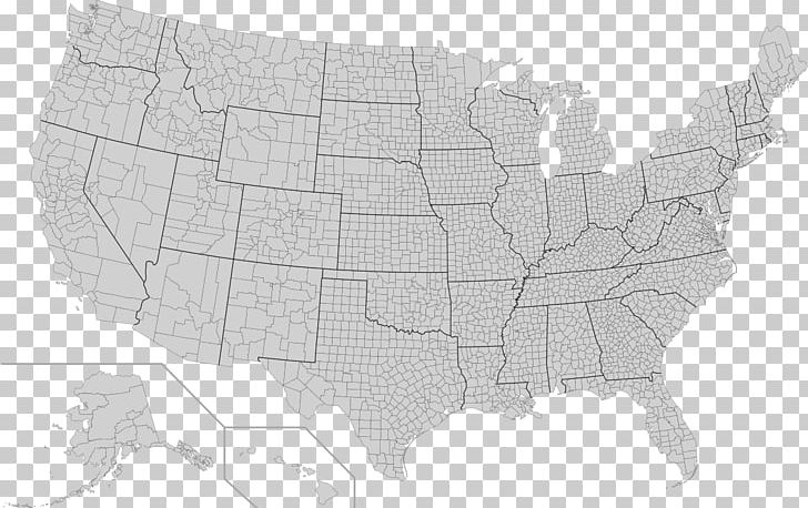 Contiguous United States FIPS County Code Map U.S. State PNG ...