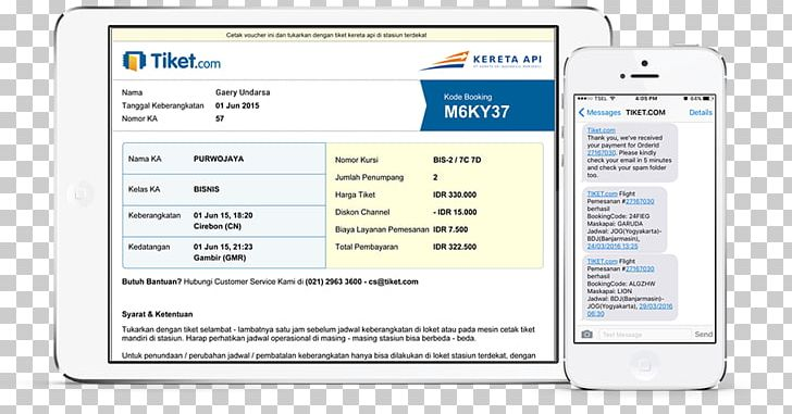 Train Tiket.com Indonesian Railway Company Electronic Ticket PNG, Clipart, Airline Ticket, Airplane, Area, Brand, Computer Free PNG Download