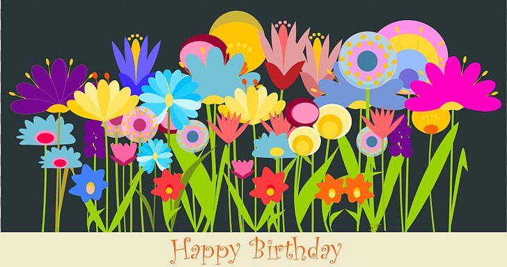 Birthday Flower Greeting Card Wish PNG Clipart Balloon Birthda Cliparts Flowers Birth Cardmaking Free Download