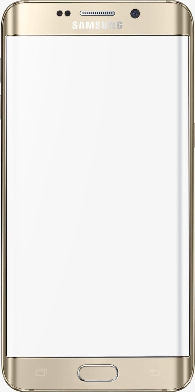 Samsung Handphone Png Clipart Frame Golden Handphone Clipart