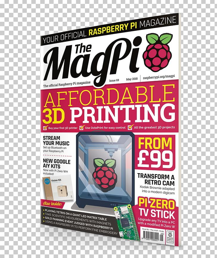 Raspberry Pi The MagPi 3D Printing Computer PNG, Clipart, 3d