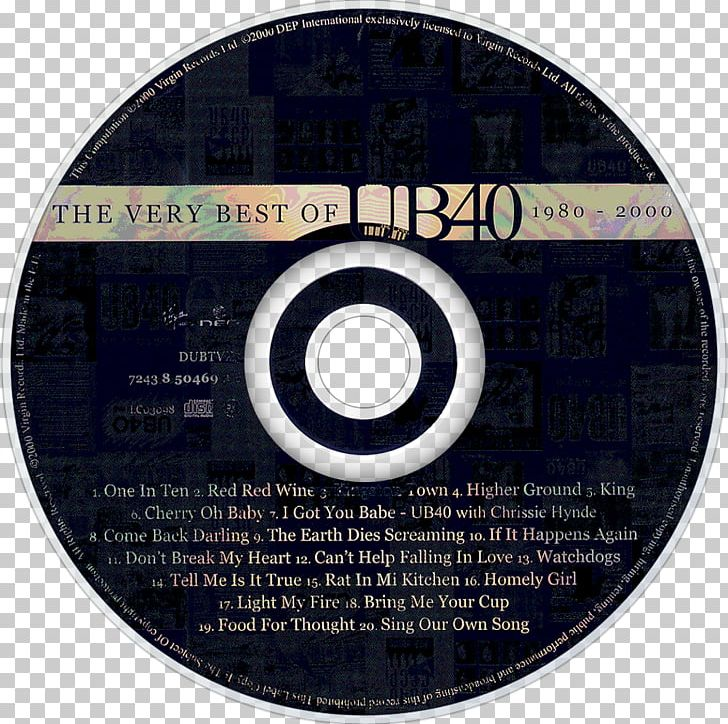 Compact Disc The Very Best Of UB40 Album Labour Of Love PNG