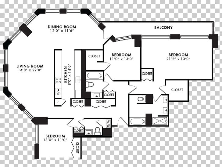 Floor Plan Chicago Apartment House Bedroom Png Clipart Angle Area Bathroom Bed Free
