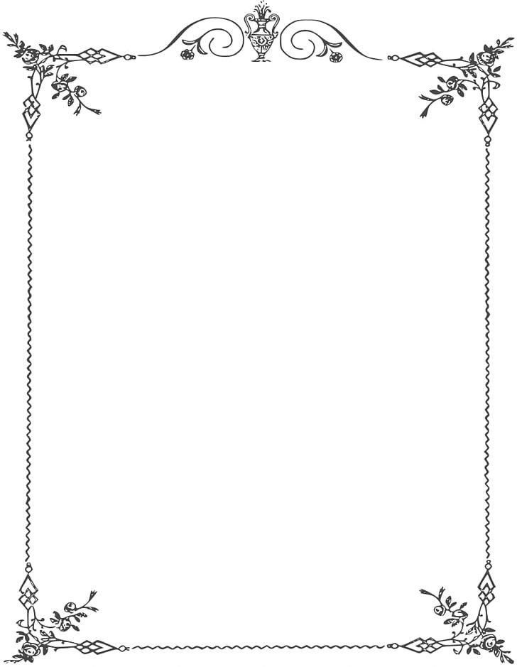 Borders And Frames Black White Png Clipart Area