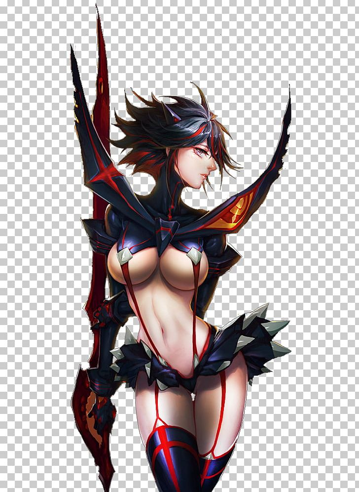 Ryuko Matoi Kill La Kill Anime Fooltown Art Png Clipart