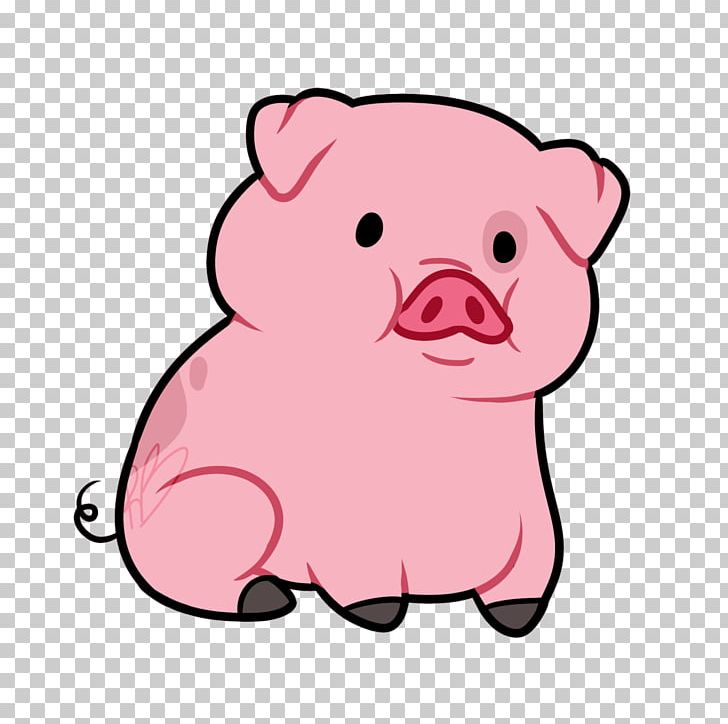 Pig animated. Domestic cartoon png clipart