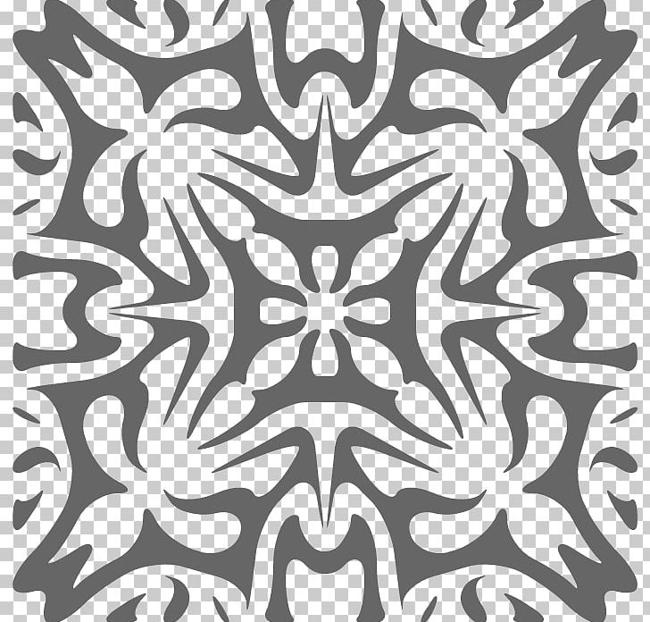 Kaleidoscope Coloring Pages To Print Png Clipart Black Black And White Circle Line Monochrome Free Png