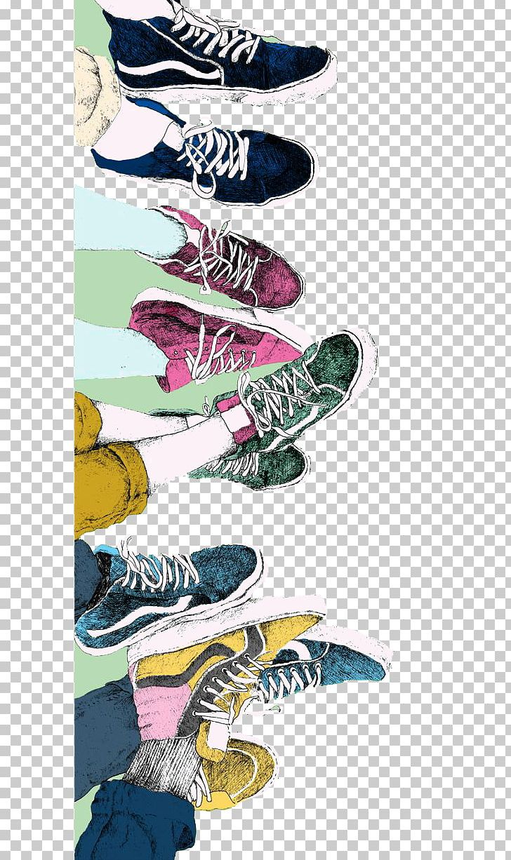 Vans Sneakers Drawing Shoe Illustration PNG, Clipart, Art