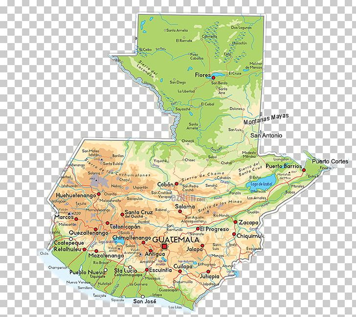 Guatemala Karte.Guatemala City Mapa Polityczna Physische Karte Antigua Guatemala Png