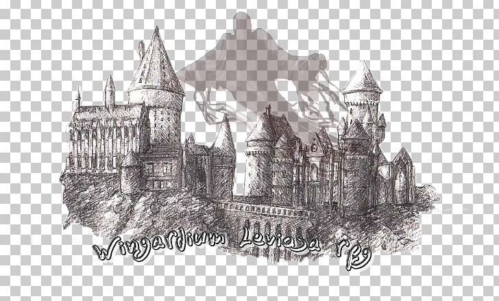 Garrï Potter Sketch Hogwarts School Of Witchcraft And Wizardry Harry Potter And The Prisoner Of Azkaban Fictional Universe Of Harry Potter PNG, Clipart, Artwork, Black And White, Castle, Drawing, Fictional Universe Of Harry Potter Free PNG Download