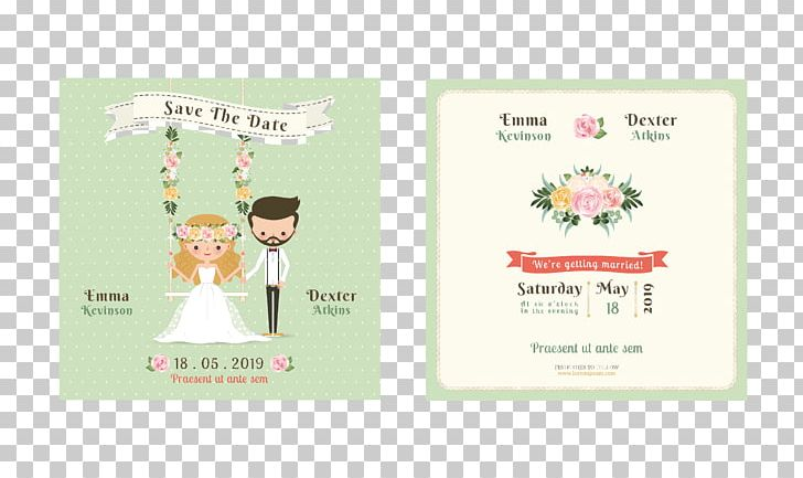 Wedding Invitation Cartoon Illustration Png Clipart Border