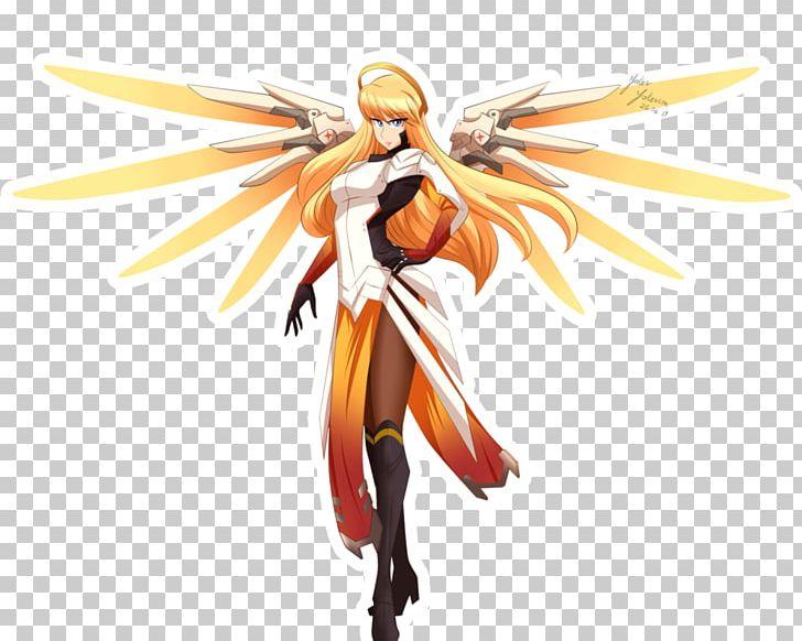 Characters Of Overwatch Mercy Fan Art Drawing PNG, Clipart, Action Figure, Cartoon, Computer Wallpaper, Desktop Wallpaper, Deviantart Free PNG Download