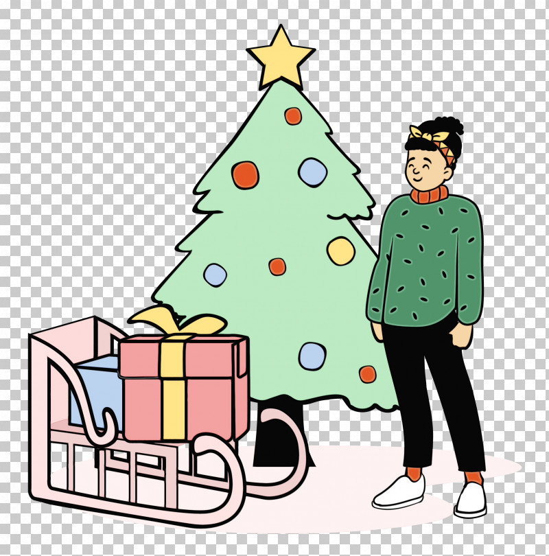 Christmas Tree PNG, Clipart, Bauble, Behavior, Cartoon, Christmas, Christmas Day Free PNG Download