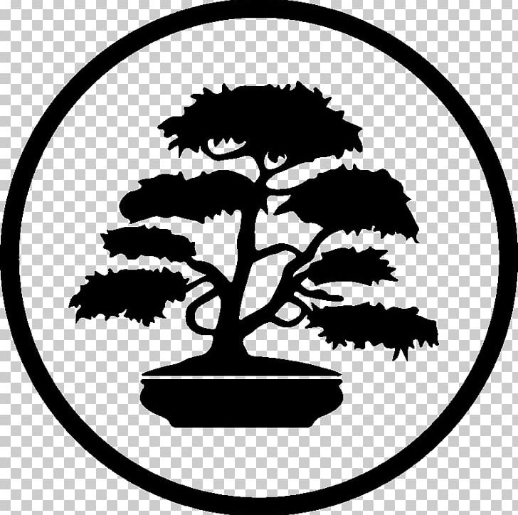 Silhouette Bonsai Png Clipart Animals Area Artwork Black And White Bonsai Free Png Download