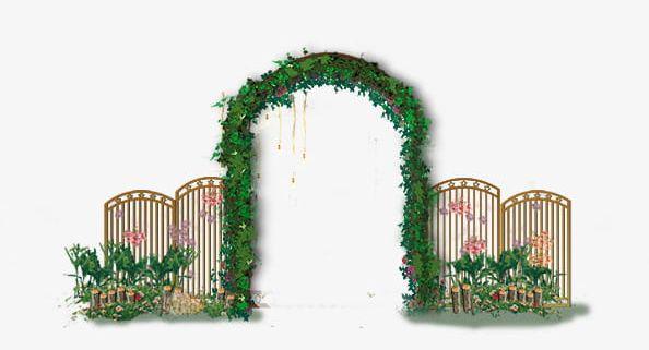 Romantic European Style Wedding Door Png Clipart Arch