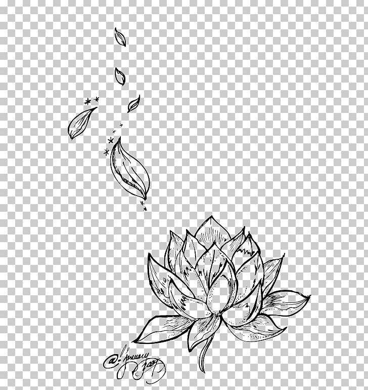 Egyptian Lotus Nelumbo Nucifera Tattoo Flower Drawing Png Clipart
