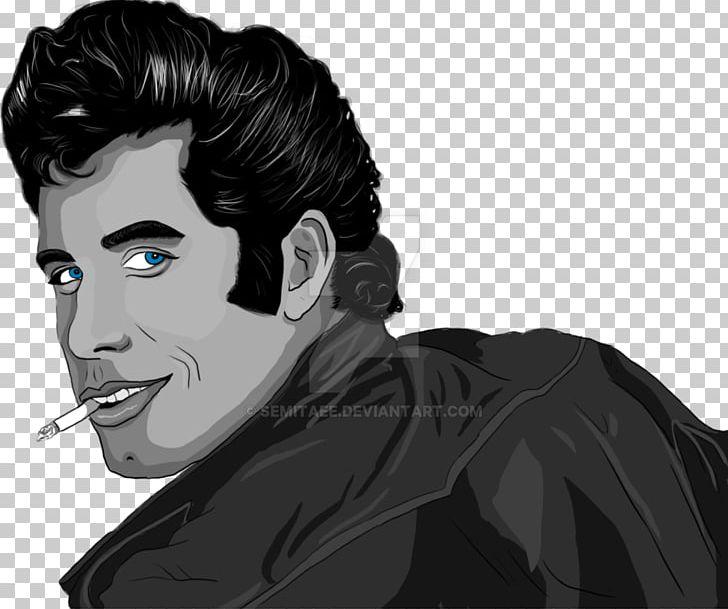 John Travolta Grease Danny Zuko Drawing Sandy Png Clipart Black And White Black Hair Blue Lagoon