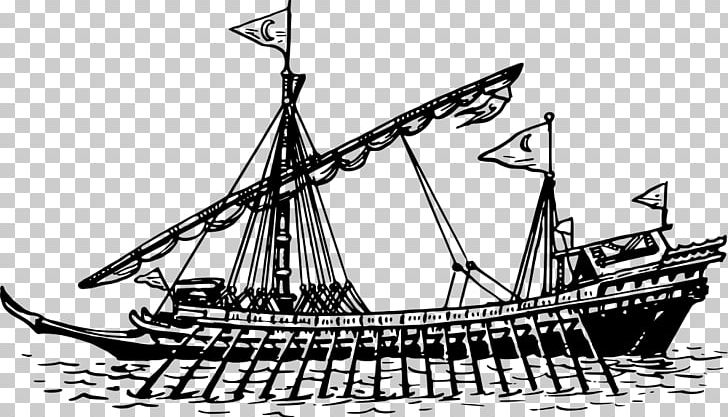 Brigantine Galleon Barque Ship Of The Line Caravel PNG, Clipart, Baltimore Clipper, Barque, Black And White, Boat, Bomb Vessel Free PNG Download