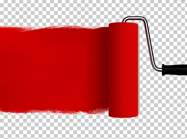Paint Rollers Red Paintbrush House Painter And Decorator PNG