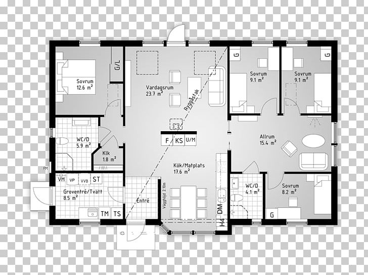 Floor Plan House Technical Drawing Square Meter Png