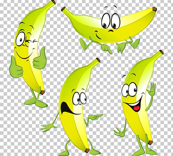 Banana four. Cartoon stock photography png