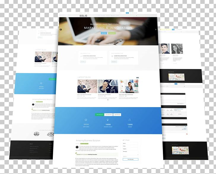 Responsive Web Design Template Joomla Web Page Computer Software Png Clipart Brand Communication Computer Software Content