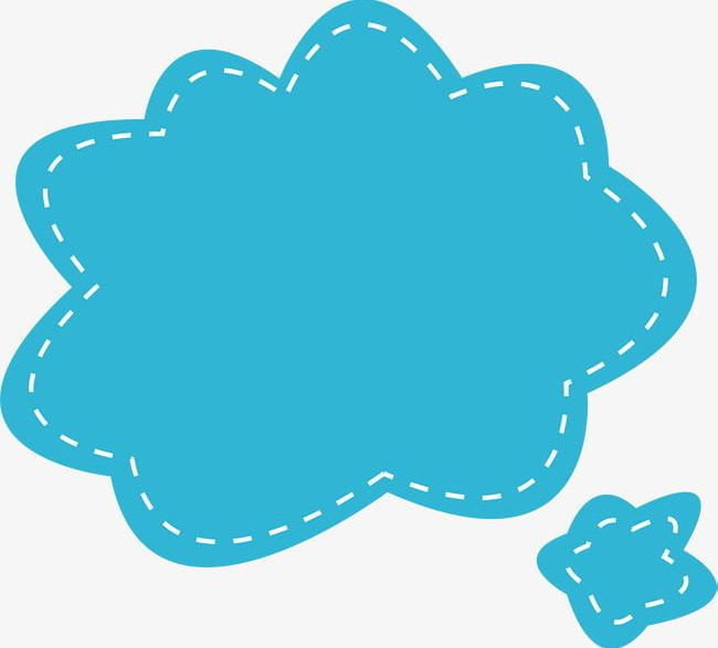 Blue Cloud Dialog Box PNG, Clipart, Blue, Blue Clipart