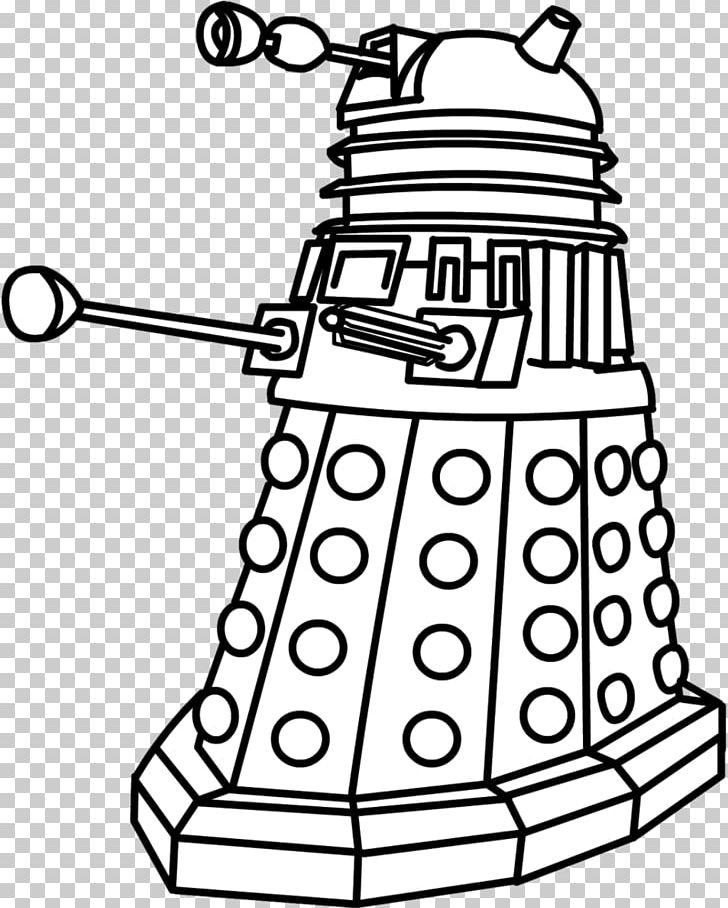 Dalek Drawing Tardis Coloring Book Ninth Doctor Png Clipart