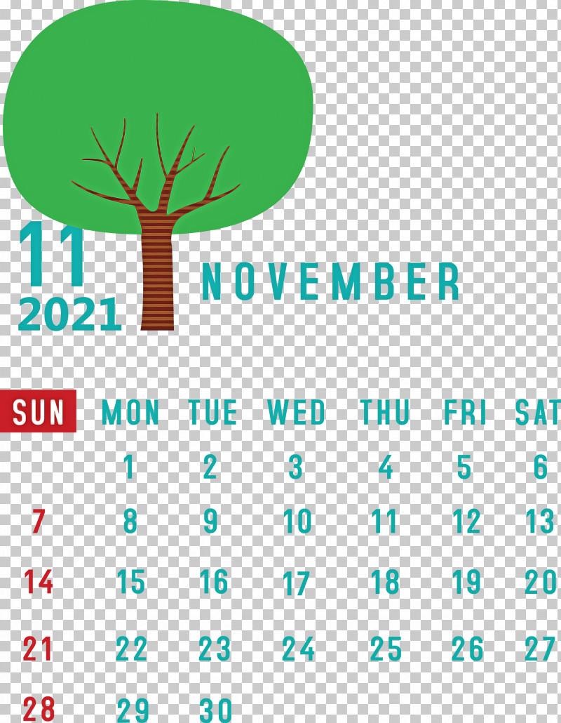 November 2021 Calendar November 2021 Printable Calendar PNG, Clipart, Diagram, Geometry, Green, Leaf, Line Free PNG Download