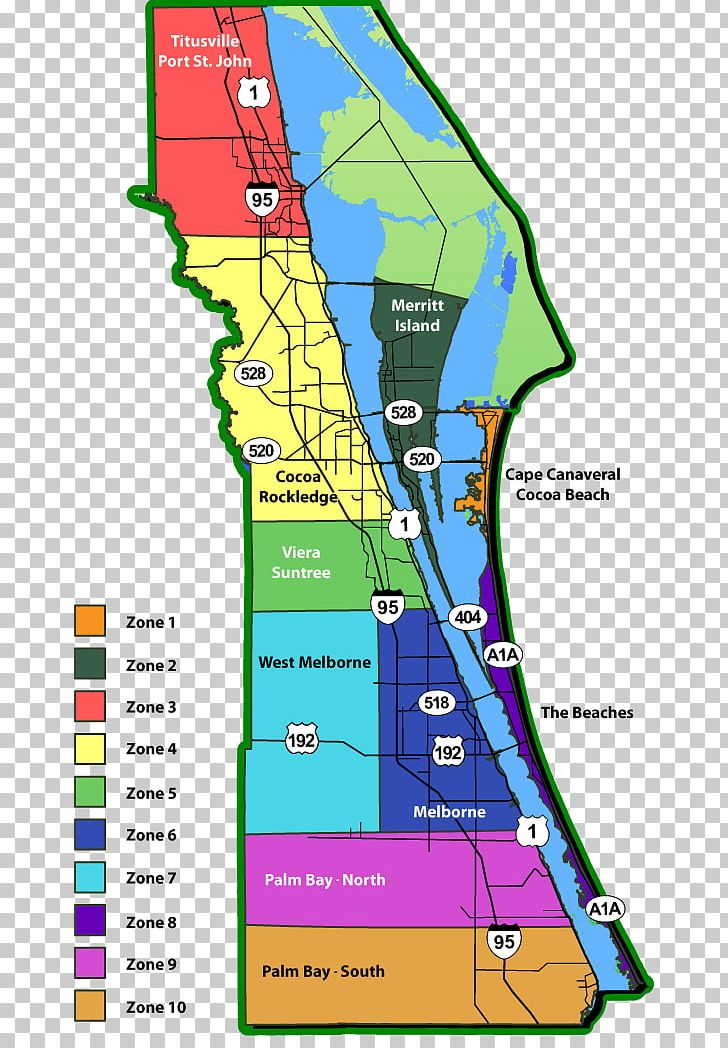 Welcome To The State Attorney's Office, 18th Judicial Circuit:  |Brevard County Area Map