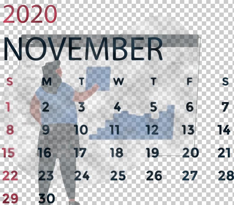November 2020 Calendar November 2020 Printable Calendar PNG, Clipart, Area, Calendar System, Line, Meter, November 2020 Calendar Free PNG Download