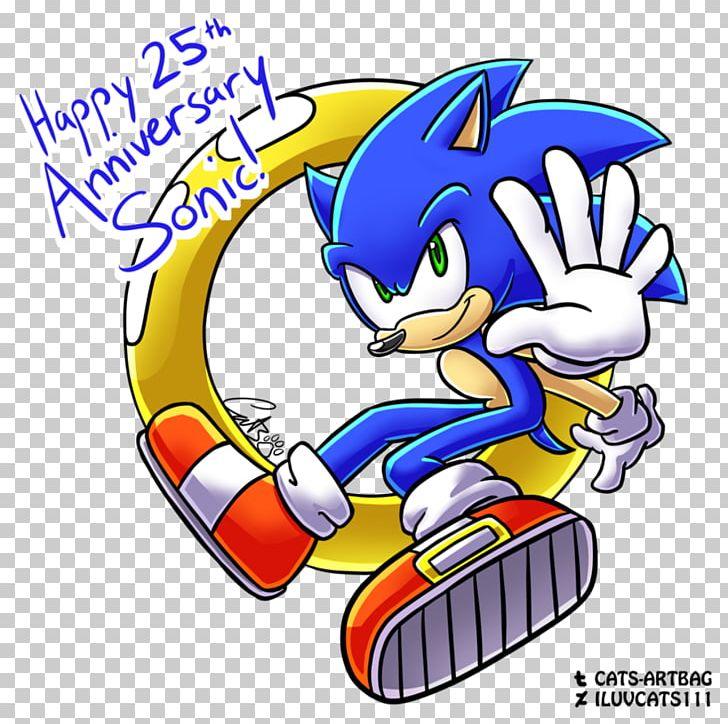 Anniversary Birthday Sonic Mania Drawing Fan Art Png Clipart 25 Years Anniversary Art Artwork Birthday Free