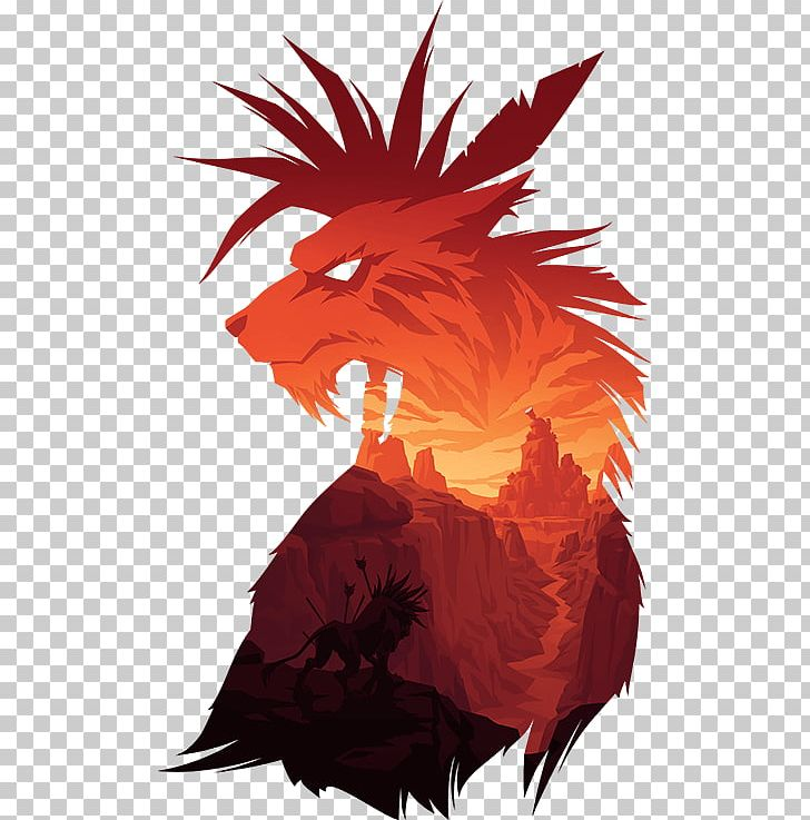 T Shirt Final Fantasy Vii Red Xiii Hoodie Png Clipart