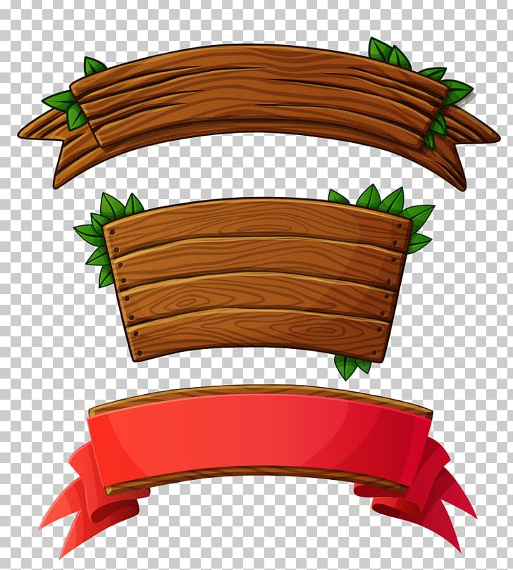 Wood banner. Plank logo png clipart