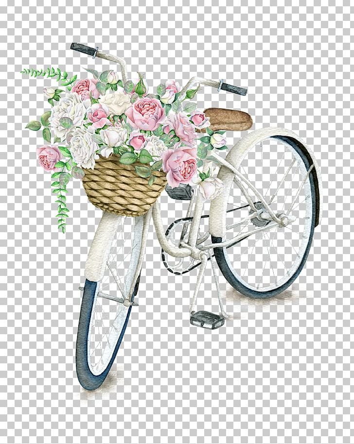 Bicycle Basket Napkin Flower Vintage Clothing PNG, Clipart, Baskets, Beautifully, Bicycle, Bicycle Accessory, Cycling Free PNG Download