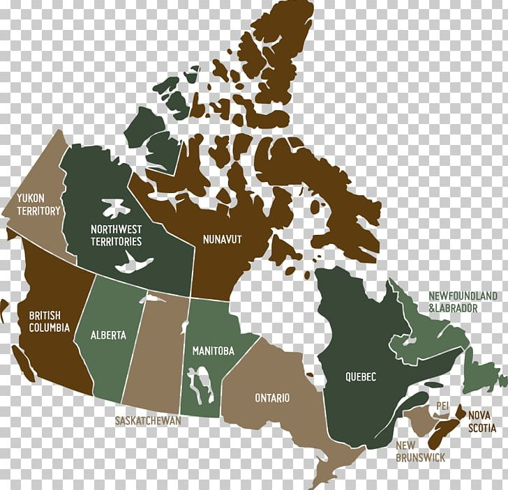 Provinces And Territories Of Canada United States Map PNG ...