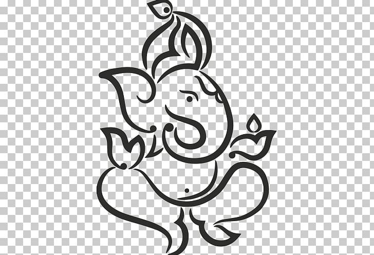Ganesha Drawing Deity Png Clipart Art Artwork Bal Ganesh Black