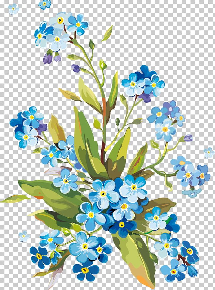 Flower Gouache Watercolor Painting PNG, Clipart, Art, Blue, Bluebonnet, Borage Family, Branch Free PNG Download