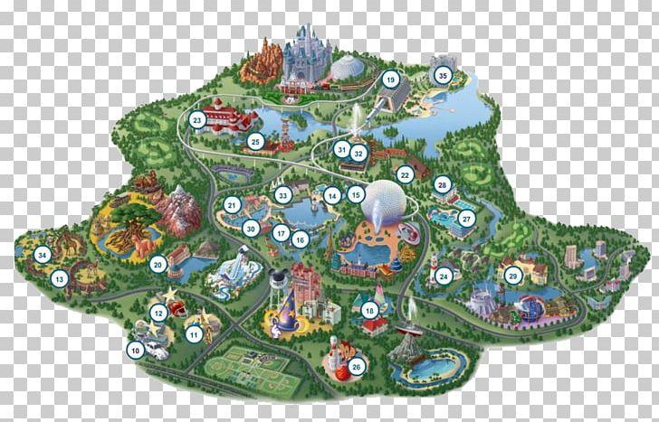 Magic Kingdom Disney's Animal Kingdom Disney Springs Epcot Map PNG on