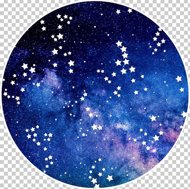 Galaxy circle. Star computer icons nebula