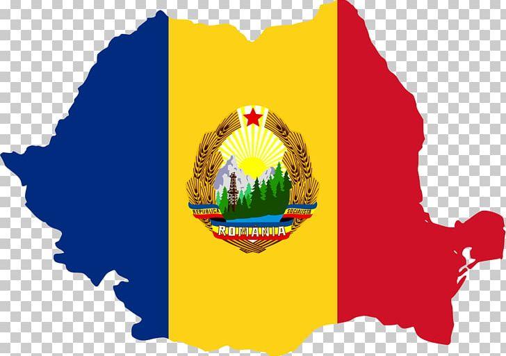 Socialist Republic Of Romania Flag Of Romania Map Png