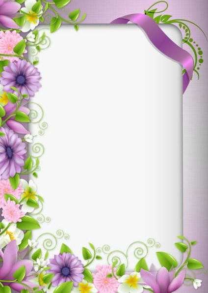 Purple Flowers Border PNG, Clipart, Border Clipart, Flowers, Flowers Clipart, Frame, Gallery Free PNG Download