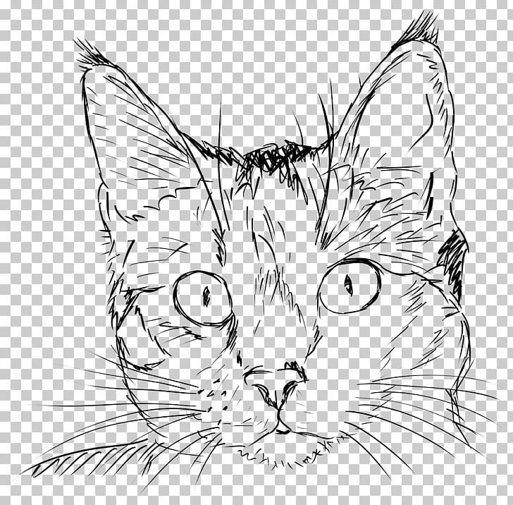 Cat Drawing Kitten Line Art PNG, Clipart, Animals, Art, Artwork, Black And White, Black Cat Free PNG Download