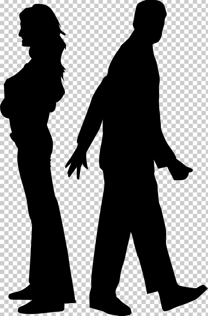 Silhouette Couple Marriage PNG, Clipart, Black And White, Communication, Couple, Divorce, Family Free PNG Download