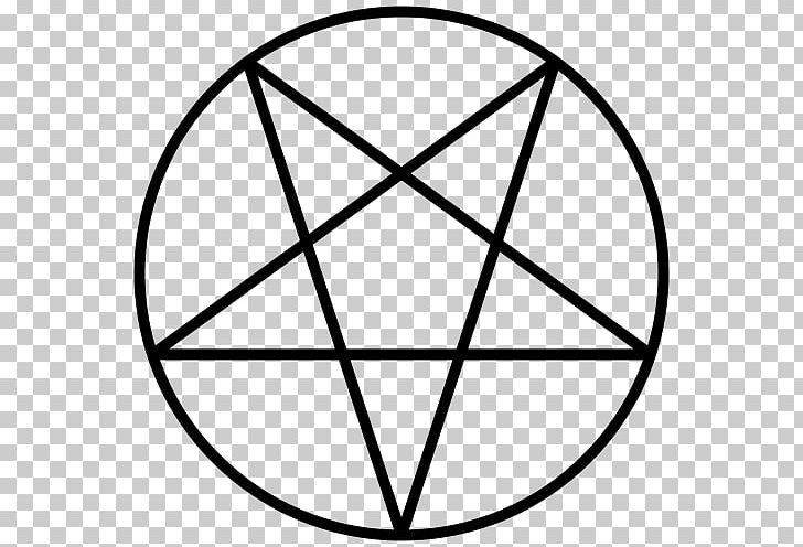Pentagram Pentacle Satanism Symbol PNG, Clipart, Angle, Area, Black, Black And White, Christian Cross Free PNG Download