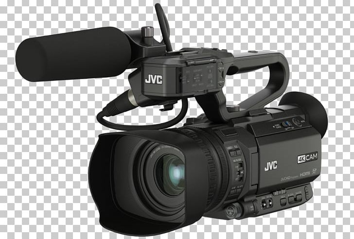 Video Cameras 4K Resolution JVC Ultra-high-definition Television PNG, Clipart, 4k Resolution, Camera Lens, Electronics, Lens, Microphone Free PNG Download